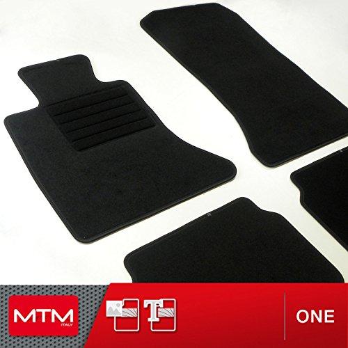 MTM Tappetini Serie 5 Touring (F11) dal 06.2010- su Misura Sagomati Come Originali, Battitacco in Moquette, Bordo Antiscivolo, cod. One 378