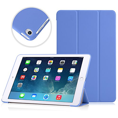 "MoKo Case Fit iPad Air 2 - Slim Lightweight Smart Shell Stand Cover Case Compatible with iPad Air 2 9.7"" 2014 Released Tablet, Blue (with Auto Wake/Sleep, Not Fit iPad Air 2013 Released Tablet)"