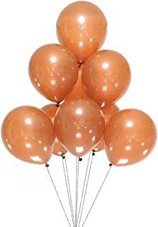 AZOWA Brown Latex Balloons 12 inch Party Decorations Balloons Pack of 100 for Birthday Party Festival Celebration