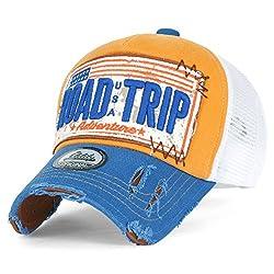 a896a5b5c ililily Road Trip Vintage Distressed Snapback Trucker Hat Baseball Cap