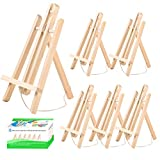 6 Pack Wooden Easel, Foldable A Frame Wood Easel Adjustable Table Easel with Exquisite Packaging for Drawing, Oil Water Painting, Table Top Arts and Crafts (12 x 8 Inches)