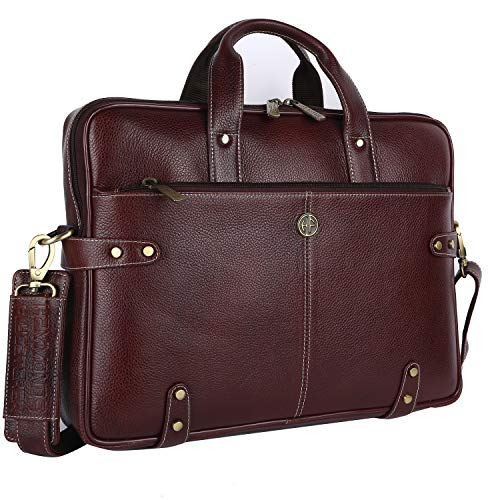 Hammonds Flycatcher Original Bombay Brown Leather 15.6 inch Laptop Messenger Bag (L=40,H=30, B=8 cm) LB104