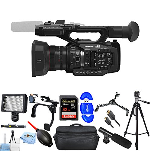 Read About Panasonic AG-UX180 4K Premium Professional Camcorder PRO Bundle with 32GB SD, LED Light, ...