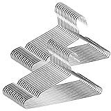 TUXWANG 18/10 Perchas de Acero Inoxidable, Ahorro de Espacio, Antideslizante, No...