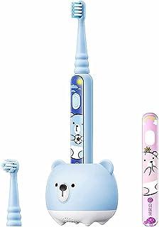 FDHT Elektryczna szczoteczka do zębów dla dzieci, ładowana wodoodporna miękkie futro automatyczna elektryczna szczoteczka ...