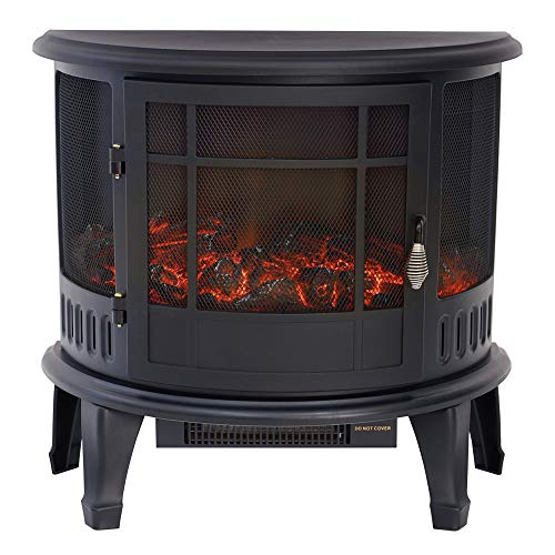 FIDOOVIVIA Electric Fire Heater Electrical Fireplaces LED Flame Effect Fire Log Burner Stove,...