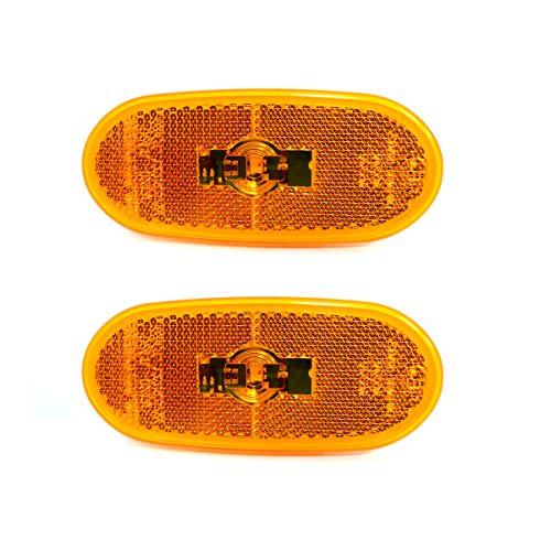 2x LED Seitenmarkierungsleuchten Markierungsleuchten Positionleuchte Orange 12V Standlicht für Sprinter/Crafter