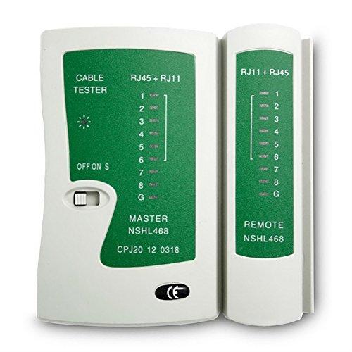 GEZICHTA RJ45/RJ11Ethernet Kabel Testen Tester Test Tool für CAT5Cat 6mit Remote-Tester, Netzwerk LAN Kabel Tester Werkzeug