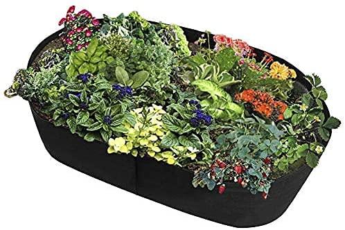 Garden Huerto Cuadrado Cama de jardín, tela rectangular duradera, macetas de cultivo elevadas para plantas, contenedor de plantación transpirable, bolsa de cultivo de jardín, maceta para plant