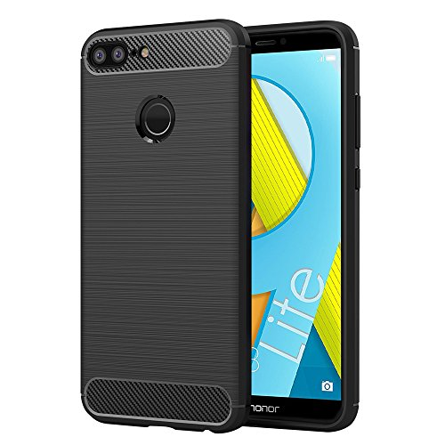 Elekin Handyhülle für Huawei Honor 9 Lite, Honor 9 Lite Hülle Schutzhülle - Schwarz