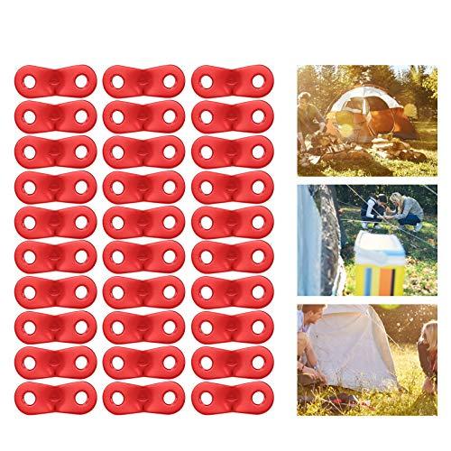 Qinyayoa Tensor de Cuerda, Hebilla de Cuerda de aleación de Aluminio, 30 Piezas de Peso Ligero para Acampar de montañismo