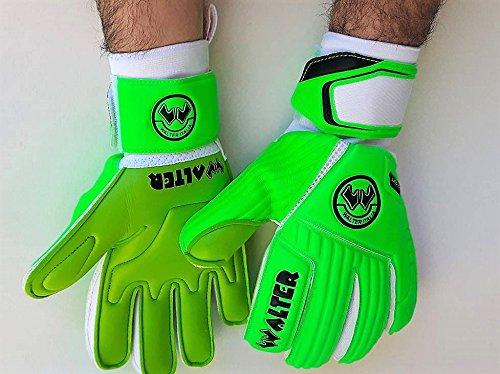 Walter Guanto Portiere Professionale, Calcio, Made in Italy, Modello Delta (Verde-Fluo, 8,5)
