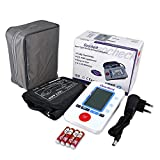Ozocheck Fully Automatic Digital Blood Pressure and Pulse Rate Monitor for Accurate Results along with batteries and Free Adapter (Multicolor)