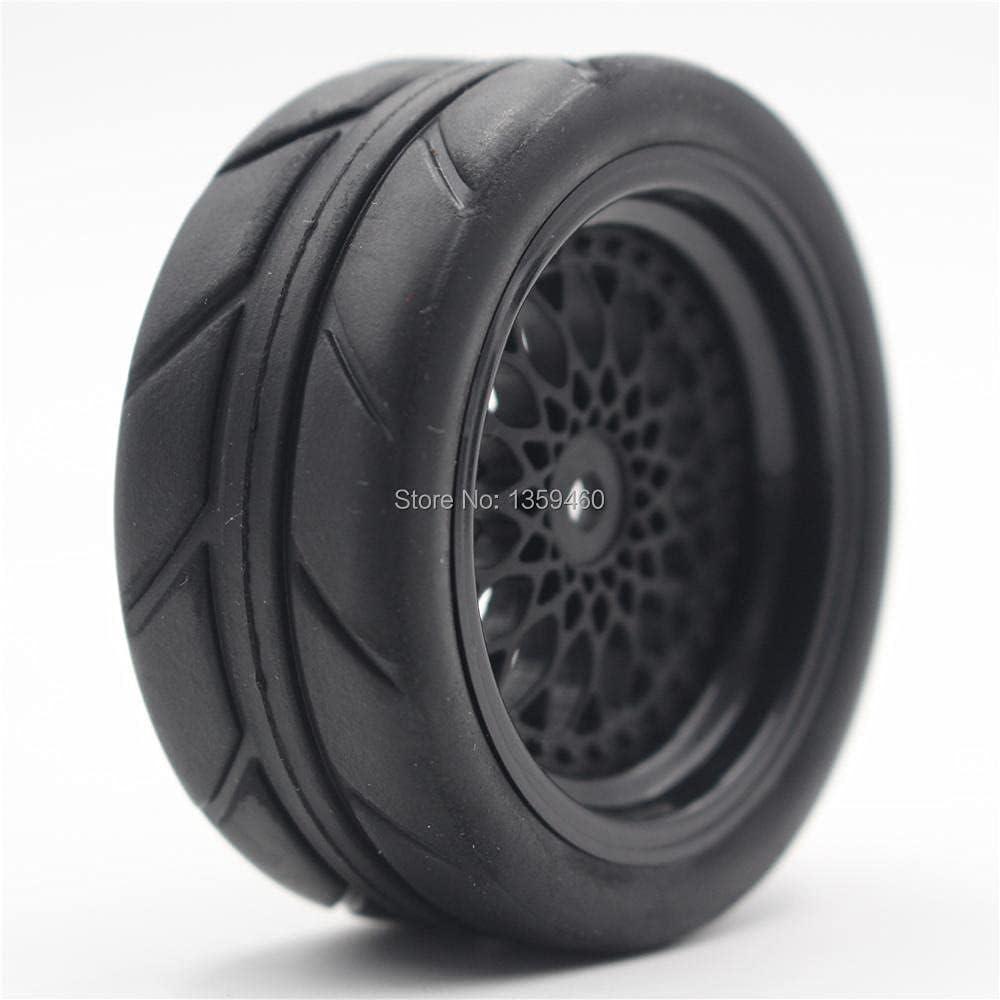GzxLaY 4pcs 1 10 Soft Rubber Touring Very popular Y12NK Tire Tyre Milwaukee Mall B Wheel Rim