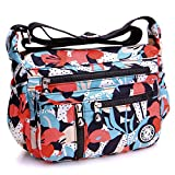 AIBILIEI Sac à bandoulière pour femme, sac à bandoulière pour shopping, travail, voyage(4-Lis)