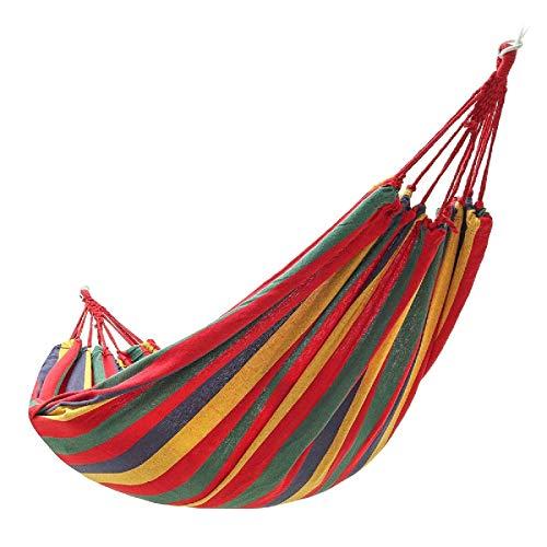 Yhjkvl Camping Hamaca 1-2 Personas Hamaca Colgante Jardín Silla para Acampar Al Aire Libre Hamaca Cama Columpio Cama Hamaca para Exterior