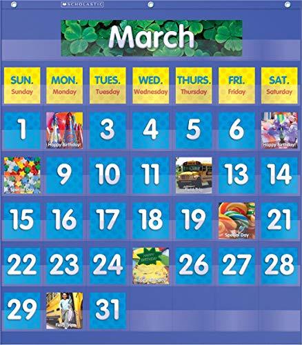 Monthly Calendar Pocket Chart, Blue