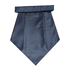 Navaksha Blue Color Micro Fiber Cravat for men
