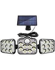 YUYDYU Güneş Enerjili Hareket Sensörü Işık, LED Duvara Monte Lamba Su Geçirmez Güvenlik Gece Aydınlatması, Dış Mekan Bahçe Yürüyüş Yolu Ön Kapı Avlu Garaj Patio Girişi, 3 Mod