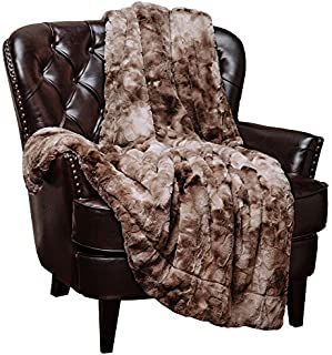 Chanasya Faux Fur Throw Blanket   Super Soft Fuzzy Light Weight Luxurious Cozy Warm Fluffy Plush Hypoallergenic Blanket for Bed Couch Chair Fall Winter Spring Living Room (50 x 65) - Beige