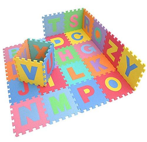 Azul Kicode 9 PCS Puzzle Colchoneta de ejercicio de juegos para ni/ños Con la alta calidad de la espuma de EVA que entrelaza Azulejos