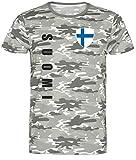 Nation Finnland - Camiseta con diseño de Camuflaje Camuflaje L