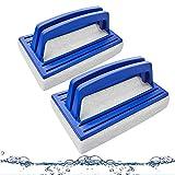 Cepillo Piscina 2 Piezas Cepillos de Esponja para Piscina para Piscina Piscina Cepillo de Pared de Limpieza Cepillo Cepillos de Esponja para Piscinas para Paredes Azulejos y Suelos(Azul)