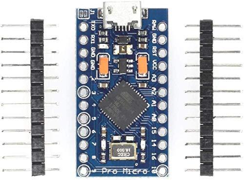 Paradisetronic.com Pro Micro 3V Modul mit ATmega32U4, Arduino Leonardo Board ähnlich, 3.3V, 8MHz