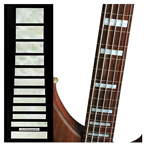 Inlaystickers Sticker Griffbrett Position Marker für 5-Saiter Bass–Jazz Bass Blocks –Weiß Perle, FB-101J5-WT