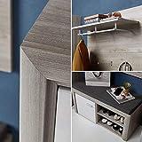 ROCKY Garderoben Set in Silber-Eiche Optik - moderne Softclose Flurgarderobe für Ihren Eingangsbereich - 270 x 201 x 38 cm (B/H/T) - 2