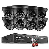 SANNCE TVI 1080P 8CH DVREnregistreur Système de Surveillance avec HDD 1TB et 8 Caméras de Vidéosurveillance 2MP Extérieur Etanches pour l'Extérieur Vision Nocturne
