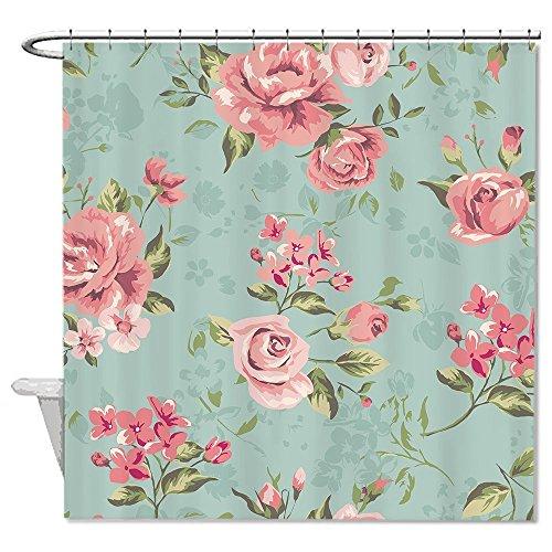 rioengnakg Vintage Floral Polyester Duschvorhang Liner Mehltau wasserdicht bis, Polyester, #1, 72