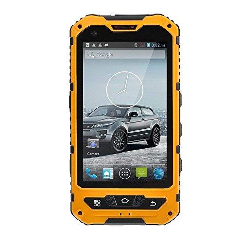 4 pollici IP67 impermeabile 3G Rugged Android 4.2 dello smartphone dual core 1.2GHz Dual SIM Shockproof antipolvere schermo capacitivo GPS 5MP A8 (giallo, nero, verde, blu)