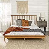 Queen Modern Wood Spindle Bed - Caramel