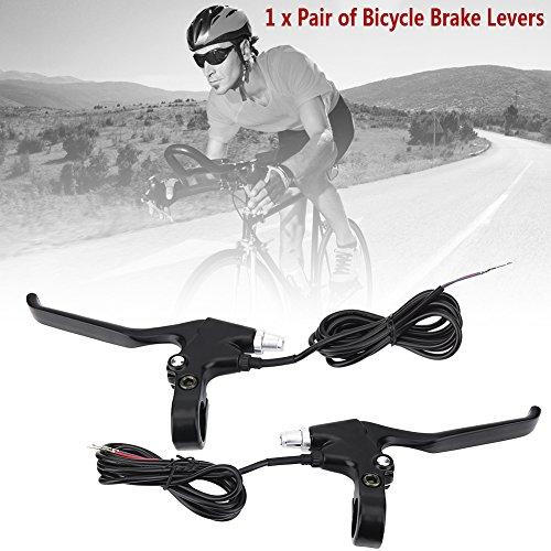 Fahrrad Bremshebel mit 1,5m Draht Aluminiumlegierung E-Bike Bremshebel für Fahrrad mit 22,5mm Lenker - 5