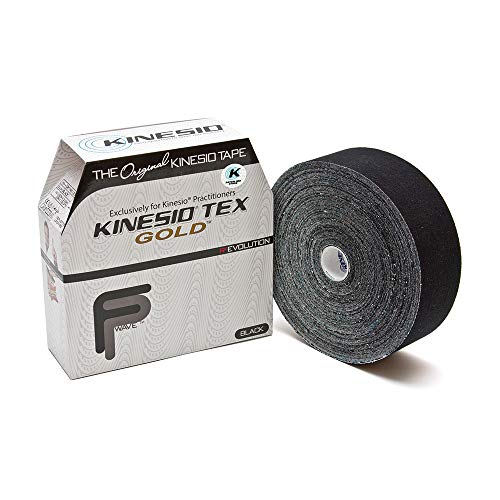 Kinesio Taping - Elastic Therapeutic Athletic Tape Tex Gold FP - Bulk Roll - Black – 2 in. x 103 ft