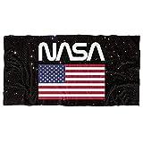 NASA Space Worm Logo & amerikanische Flagge, offiziell lizenziertes Strandtuch, 76,2 x 152,4 cm