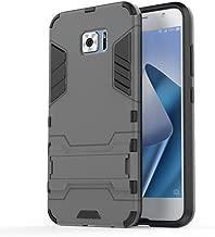 Asus ZenFone V V520KL Case, TopACE Slim Robot Armor Stand Shockproof Hybrid Rugged Rubber Hard Back Case for Asus ZenFone V V520KL (Gray)