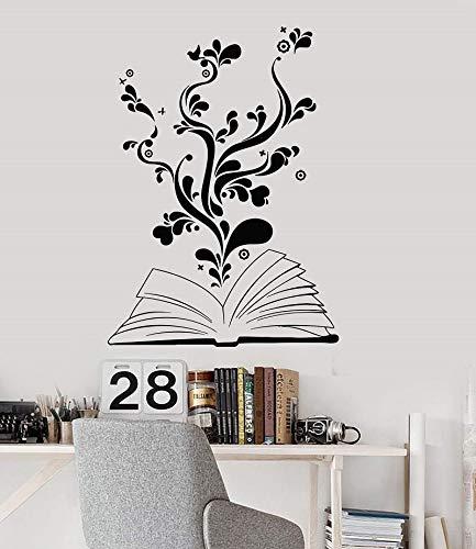 Etiqueta de la pared del árbol de la sabiduría, biblioteca escolar, aula, sala de estudio, dormitorio, decoración del hogar, arte, etiqueta de la pared, otro color 41x57cm