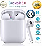 Auricolare Bluetooth5.0,cuffie wireless,cuffie stereo 3D con eliminazione del rumore,impermeabiliIPX5,per Cuffie Apple Airpods/iPhone/Samsung/Huawei