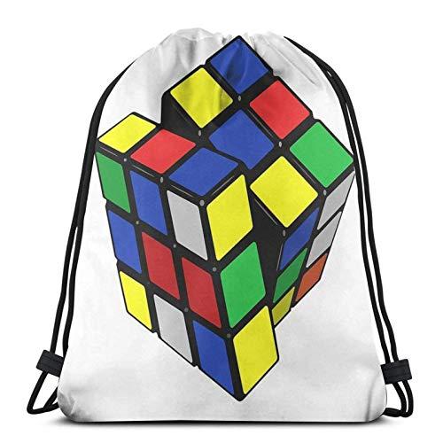 Rubiks Cube - Mochila deportiva con cordón