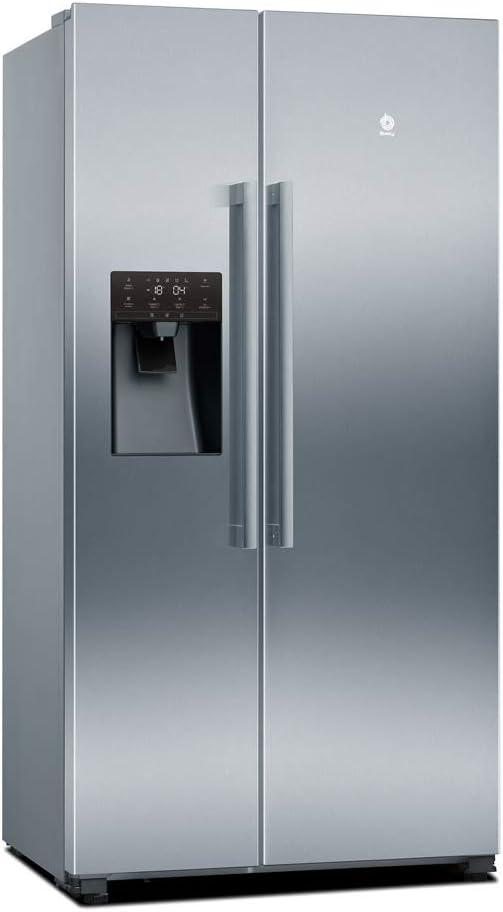 Balay, 3FAF494XE - Frigorífico americano No-Frost, Independiente, Altura 179 cm, Capacidad frigorífico 368 litros, Capacidad congelador 165 litros, Color Acero Inoxidable