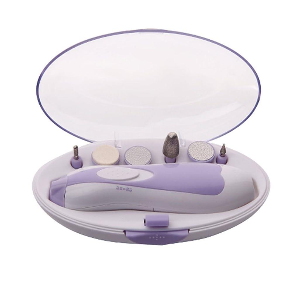 意識フロントの中でSmilemall 電動ネイルケア ネイルケアセット LEDライト搭載 アタッチメント6種類付き 角質ケア 爪やすり 爪磨き 甘皮処理 男女兼用