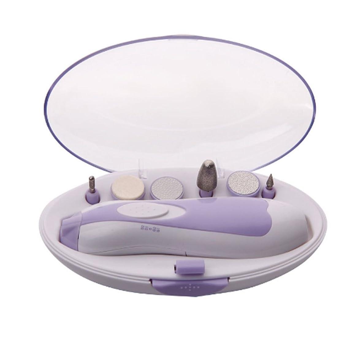 罹患率割れ目役に立たないSmilemall 電動ネイルケア ネイルケアセット LEDライト搭載 アタッチメント6種類付き 角質ケア 爪やすり 爪磨き 甘皮処理 男女兼用