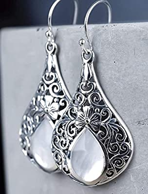 Boucles d'oreilles GOUTTES DE NACRE, en argent sterling 925