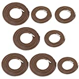 Universal Replacement Cords for Zero Gravity Chair 8pcs Elastic Laces Antigravity Chair Patio Lounge Recliner Repair Kit (Coffee (4 Longs 4 Shorts))