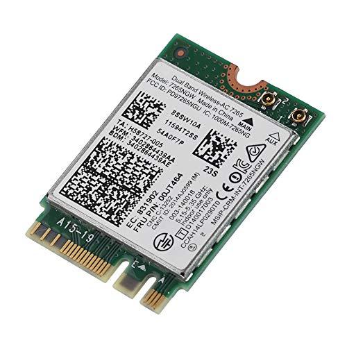 Adaptador de Red inalámbrico Dual Band Wi-Fi Card Wireless AC-7265 867Mbps Bluetooth 4.0 Mini-PCI E Wireless Card Support OS Win7/Win8/Win10