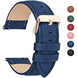 Fullmosa 14mm,16mm,18mm, 20mm, 22mm, 24mm Bracelet de Montre en Cuir véritable,...