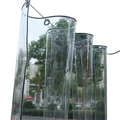 WJN Lonas Impermeable Lona Transparente Impermeable con Ojal, Lona Transparente Porche Exterior, Cubierta De Invernadero De Techo De Pérgola De Terraza Gruesa, 400G / 650G(Color:0.5mm,Size:1.2×4m)