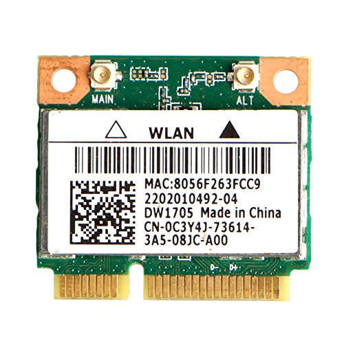 Yintiod CN-0C3Y4J - Tarjeta WLAN (Qualcomm Atheros QCWB335, Mini WLAN)